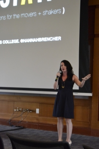 Hannah Brencher at the 2014 Student Leadership Training at Simmons College