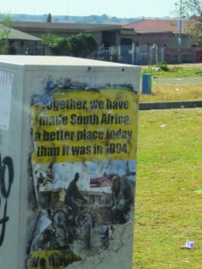 political poster in South Africa