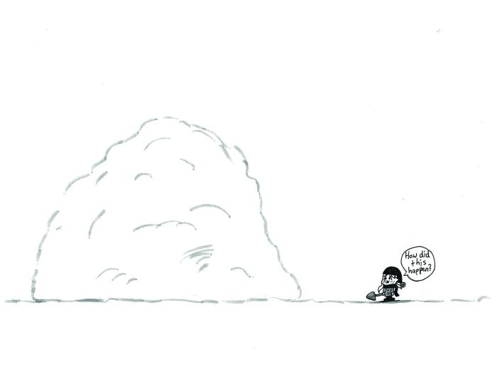 snow shoveling comic
