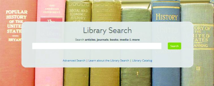 screenshot of simmons library website