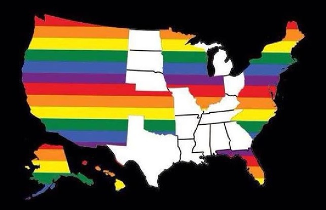 Its About More Than Marriage The Simmons Voice - Us gay marriage map