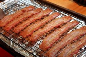 Bacon on a rack