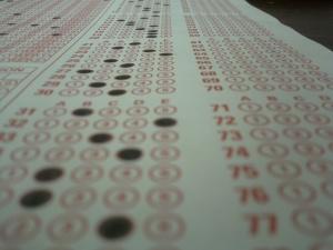 Scantron exam sheet