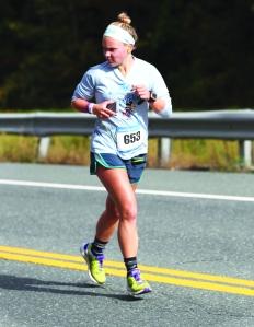 Lindsey running her first marathon