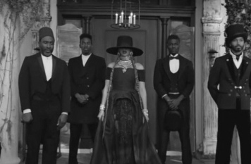 A screenshot from the Beyonce music video