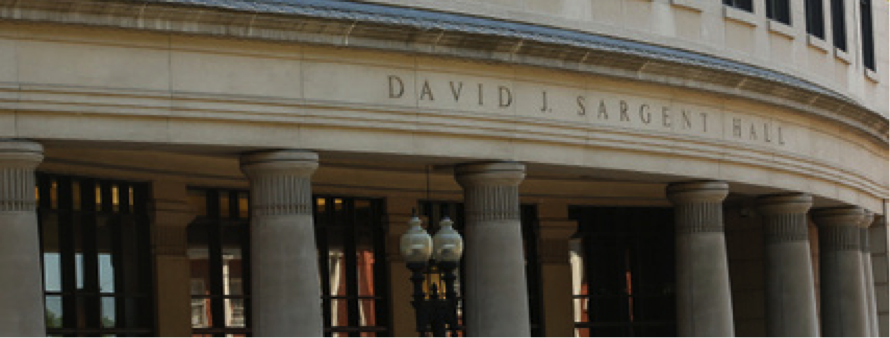 Facade of the Suffolk University campus