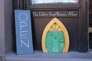 The hobbit-inspired entrance to the Fairy Shop