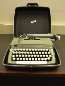 A typewriter in Beatley Library's new Makerspace
