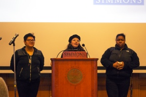 Student leaders speak on the Ten Demands