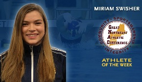 Portrait of Miriam Swisher, Athlete of the Week