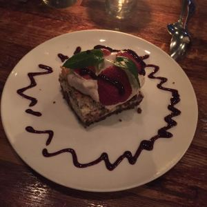 A dessert dish from the Regal Beagle