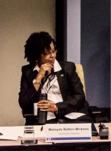 Chief Mickens at a panel