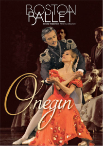 "The playbill for Boston Ballet's ""Onegin"""