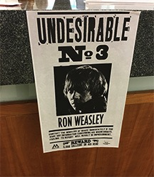 "Ron Weasley's ""Undesirable No. 3"" Poster"