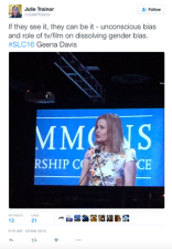 @JuliePTrainor tweets about Geena Davis