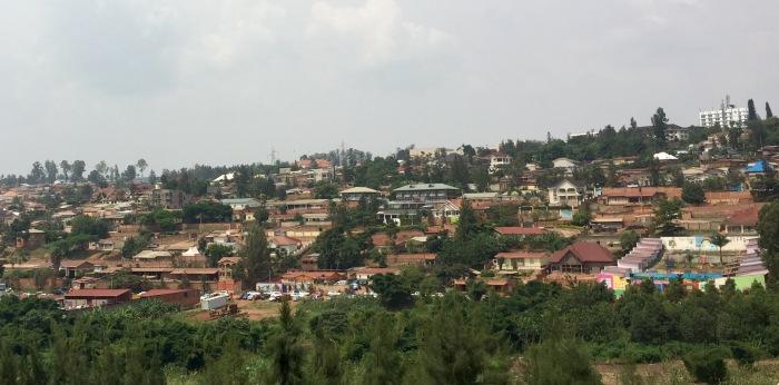 The skyline of Kigali, Rwanda