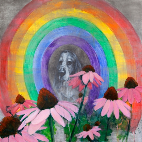 Portrait with Coneflowers and Rainbow. Source: Trustman Art Gallery website