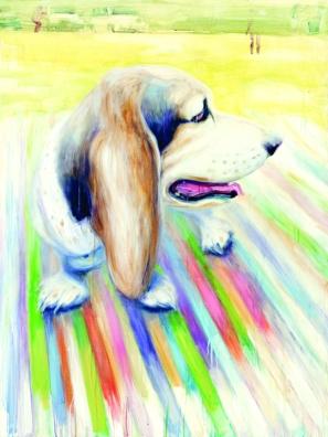 Beau with Striped Blanket #2. Source: Trustman Art Gallery website