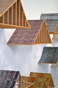 """Carolina Roofs,"" by Frank Poor. Source: Trustman Art Gallery"