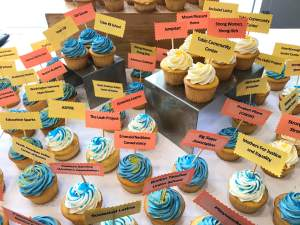Cupcakes were given out on Founder's Day in celebration. Credit: Ellen Garnett