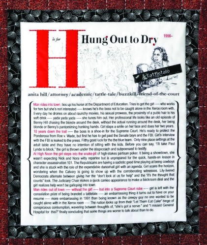 "Lauren Gillette, ""H is for Hung Out to Dry"""
