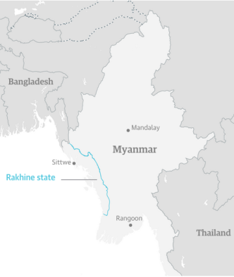 IN Myanmar Map COLOR